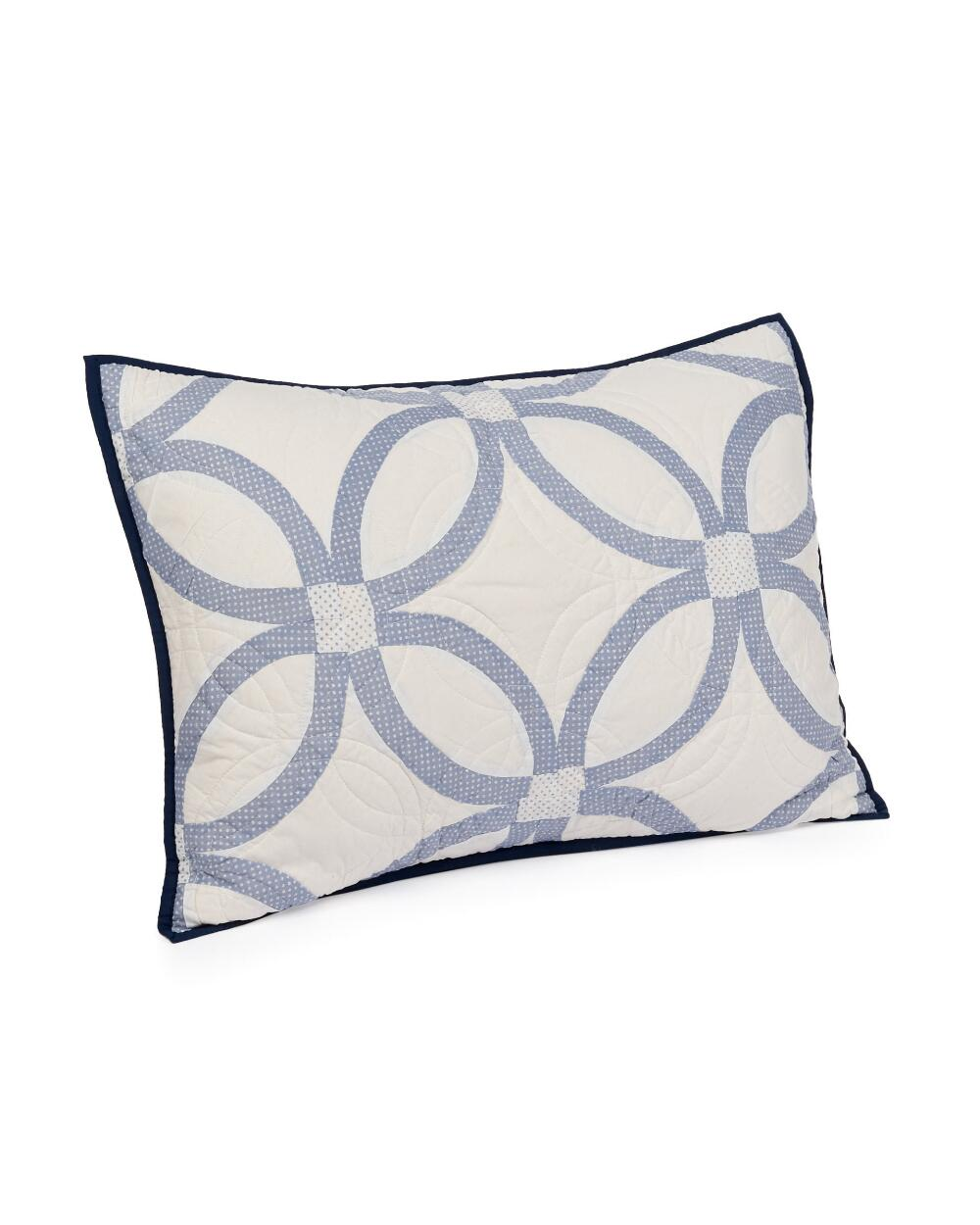 heirloomed something blue wedding ring quilted dec pillow