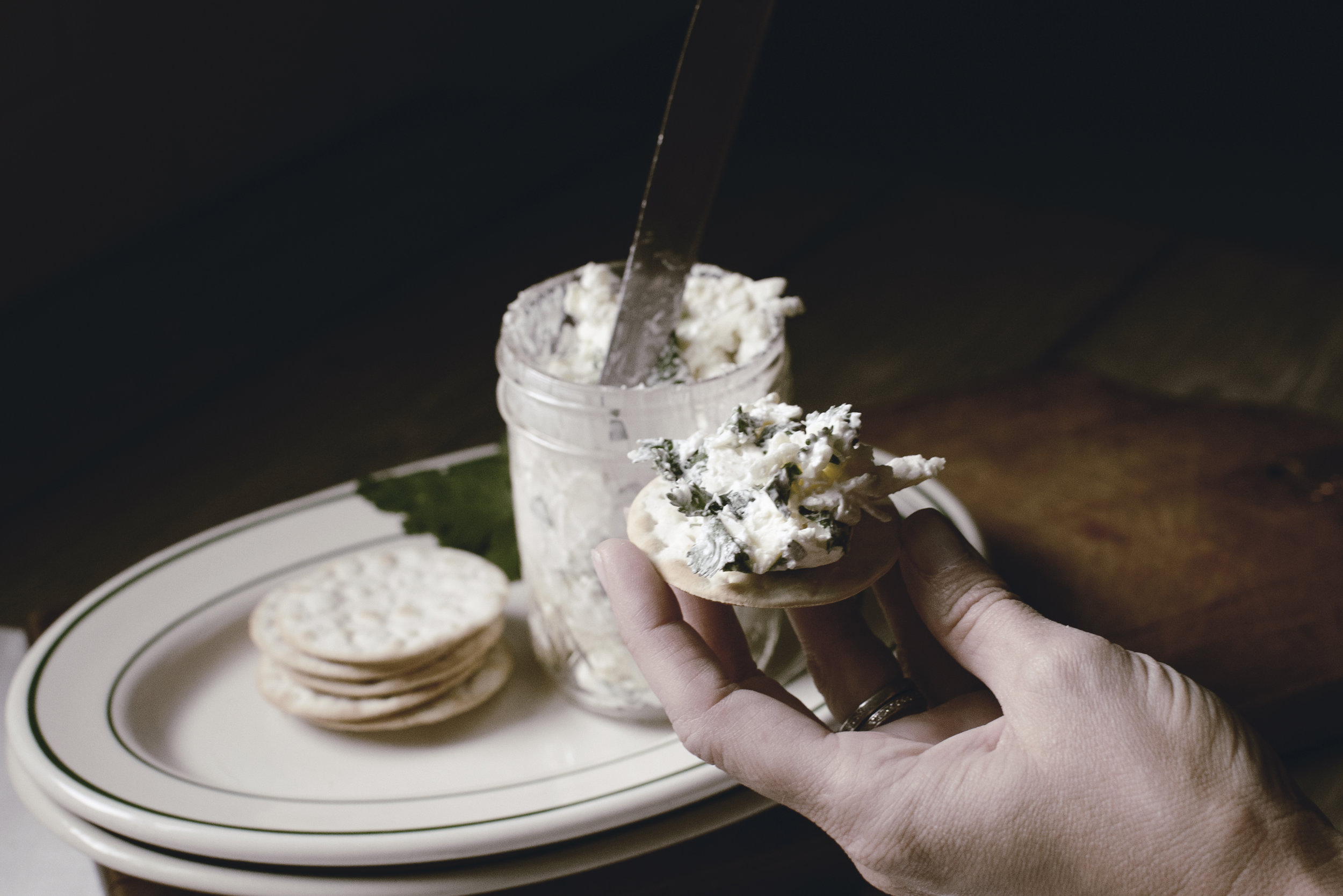 white cheddar pimento cheese with herbs recipe by heirloomed