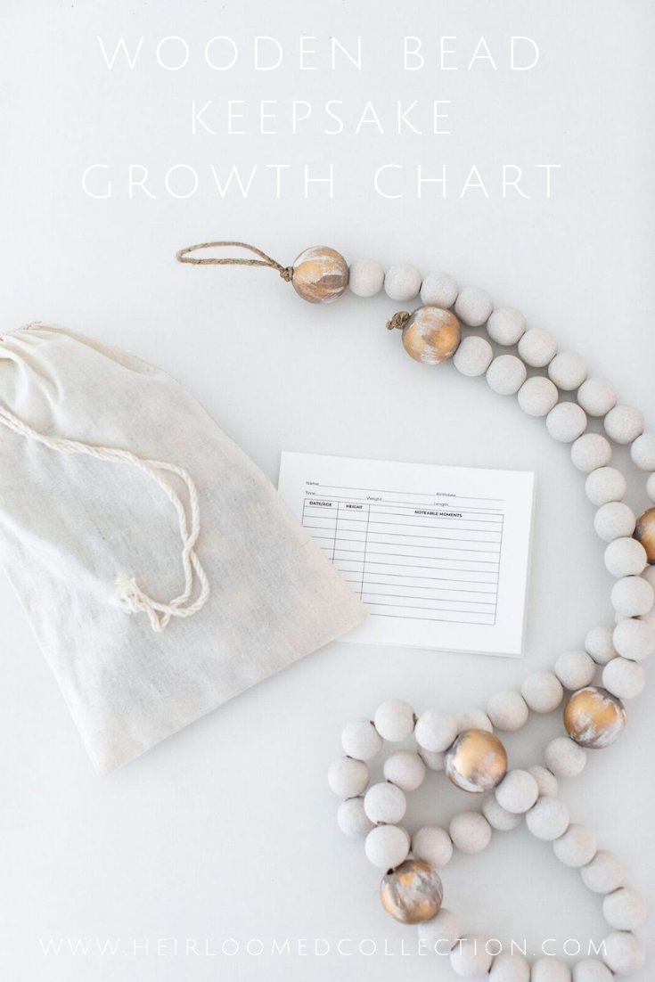 Wooden Bead Growth Chart by heirloomed