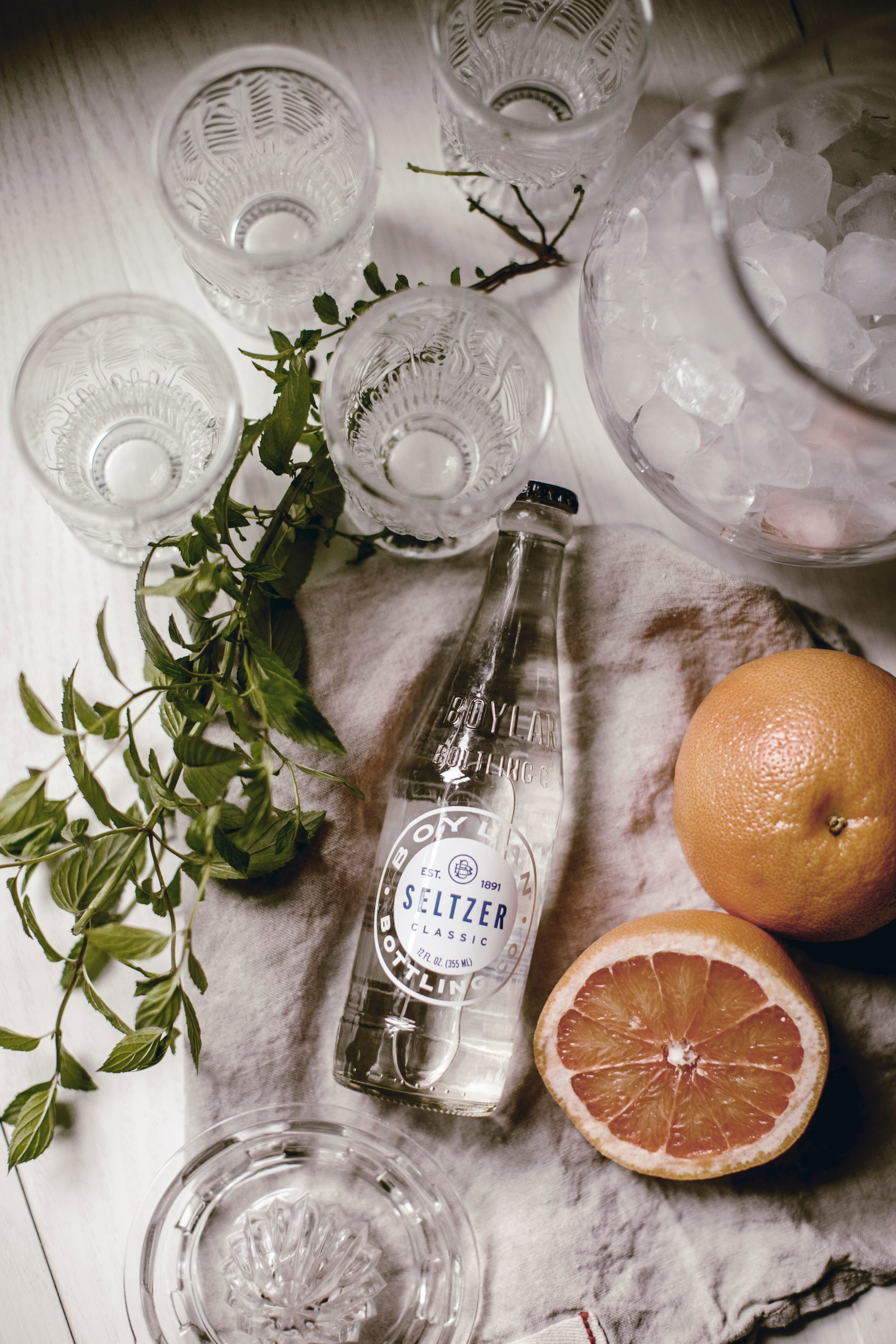 Grapefruit and Mint Spritzer by heirloomed