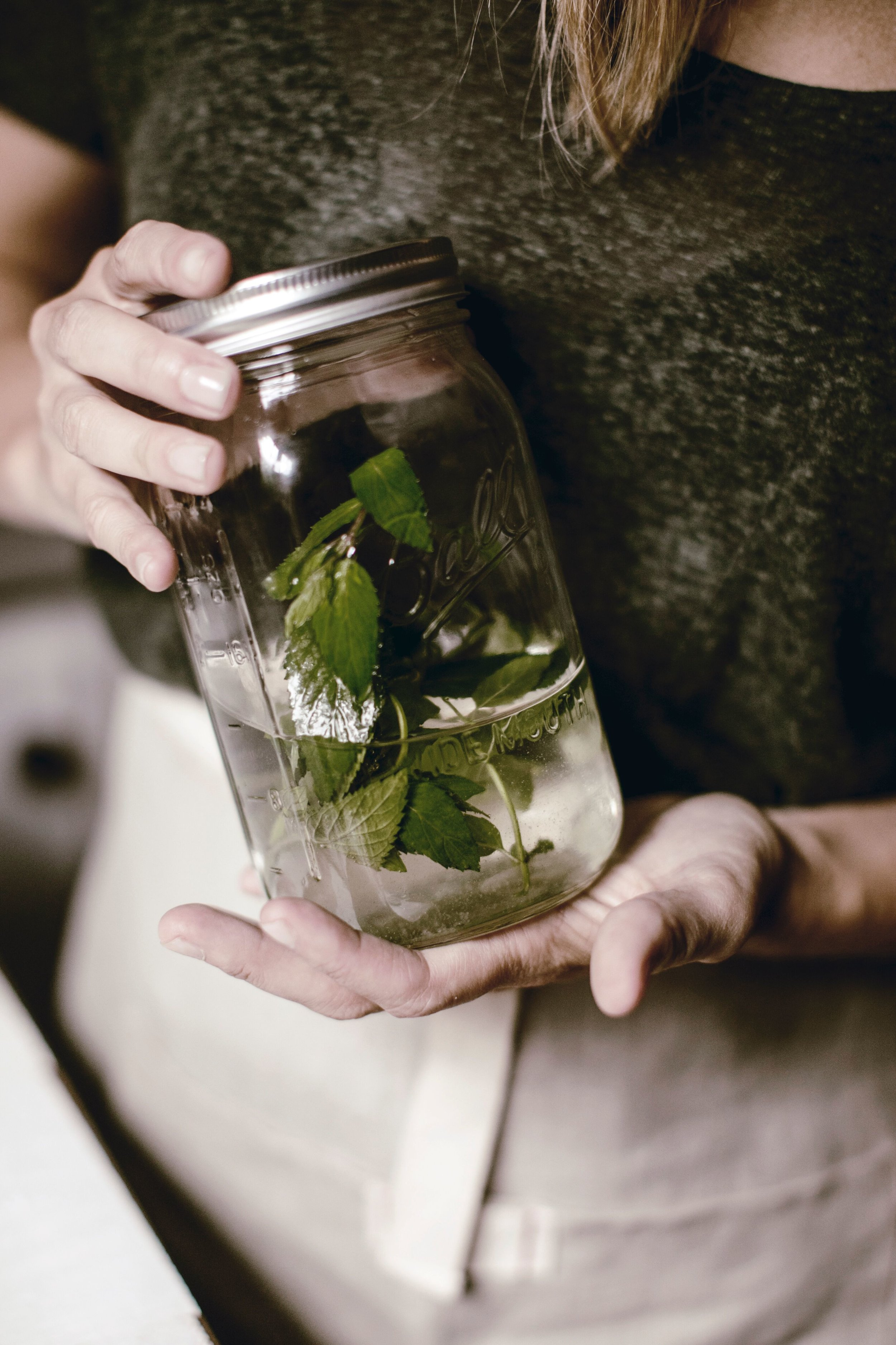 Mint Simple Syrup by heirloomed