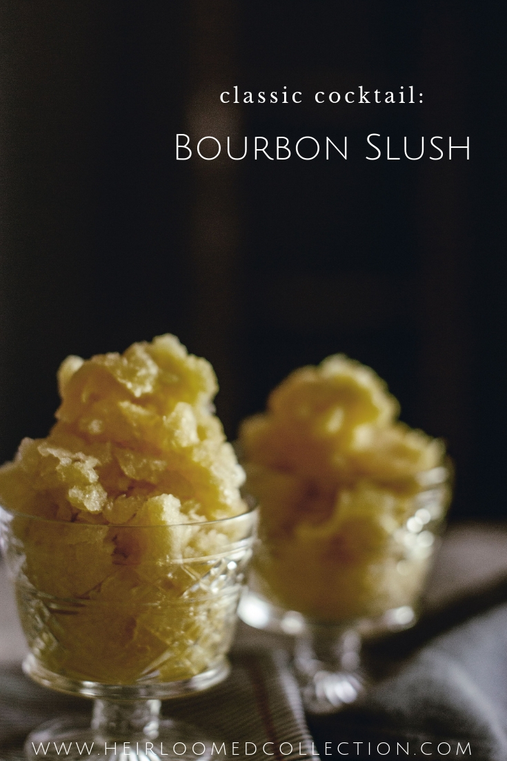 cold bourbon slush cocktail napkins