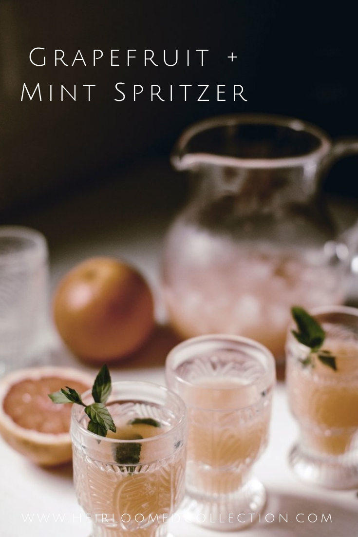 Grapefruit and mint spritzer perfect for a summer cocktail party.