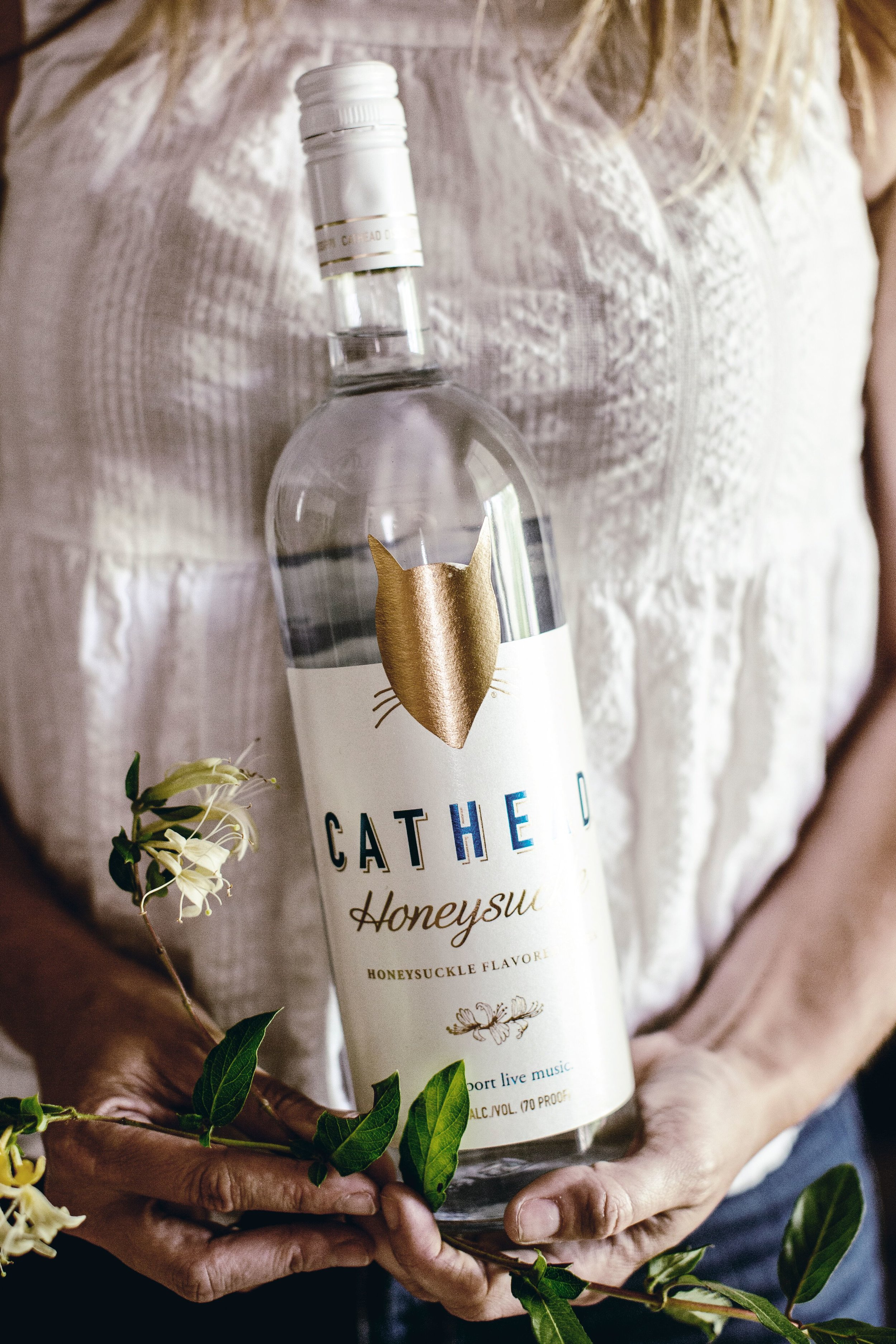 A beautiful spring classic vodka cocktail recipe - Honeysuckle + Rhubarb Cocktails