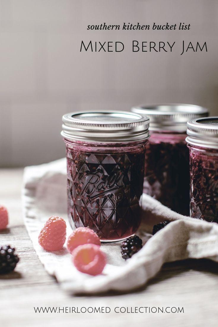 mixed berry jam pinterest