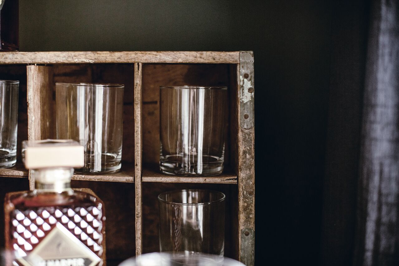 vintage bar cart by heirloomed