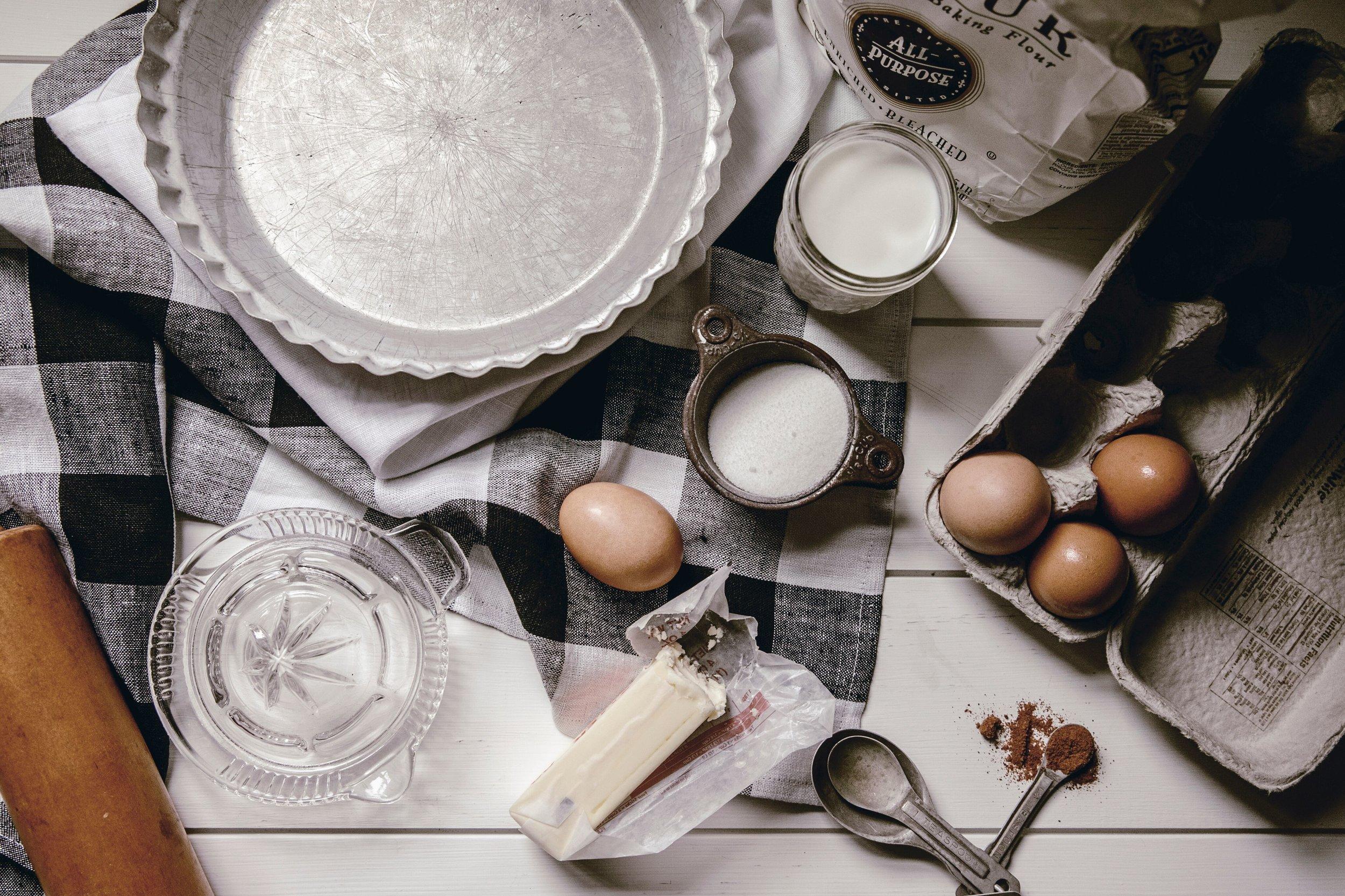 buttermilk pie ingredients by heirloomed