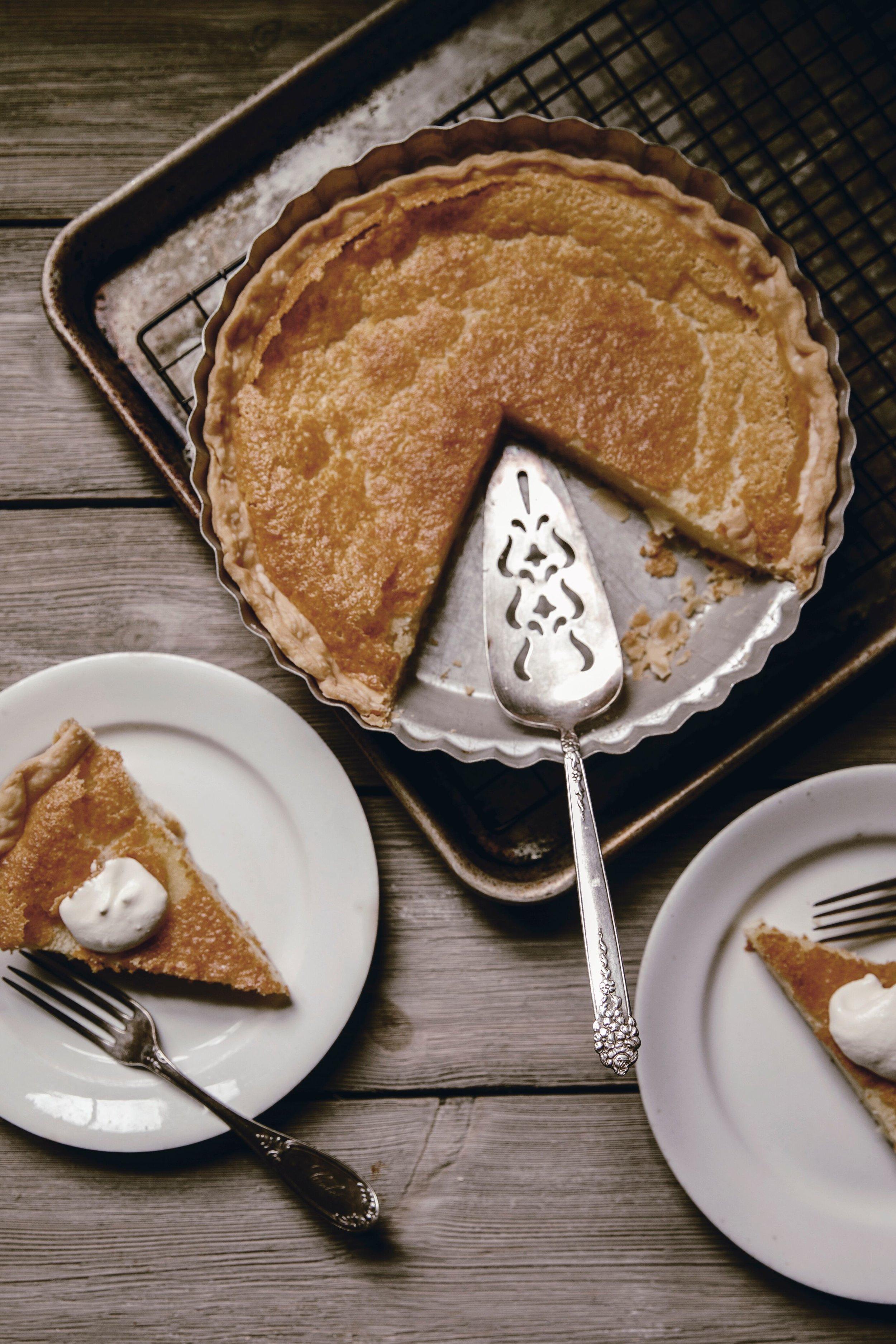 buttermilk pie and vintage pie server heirloomed