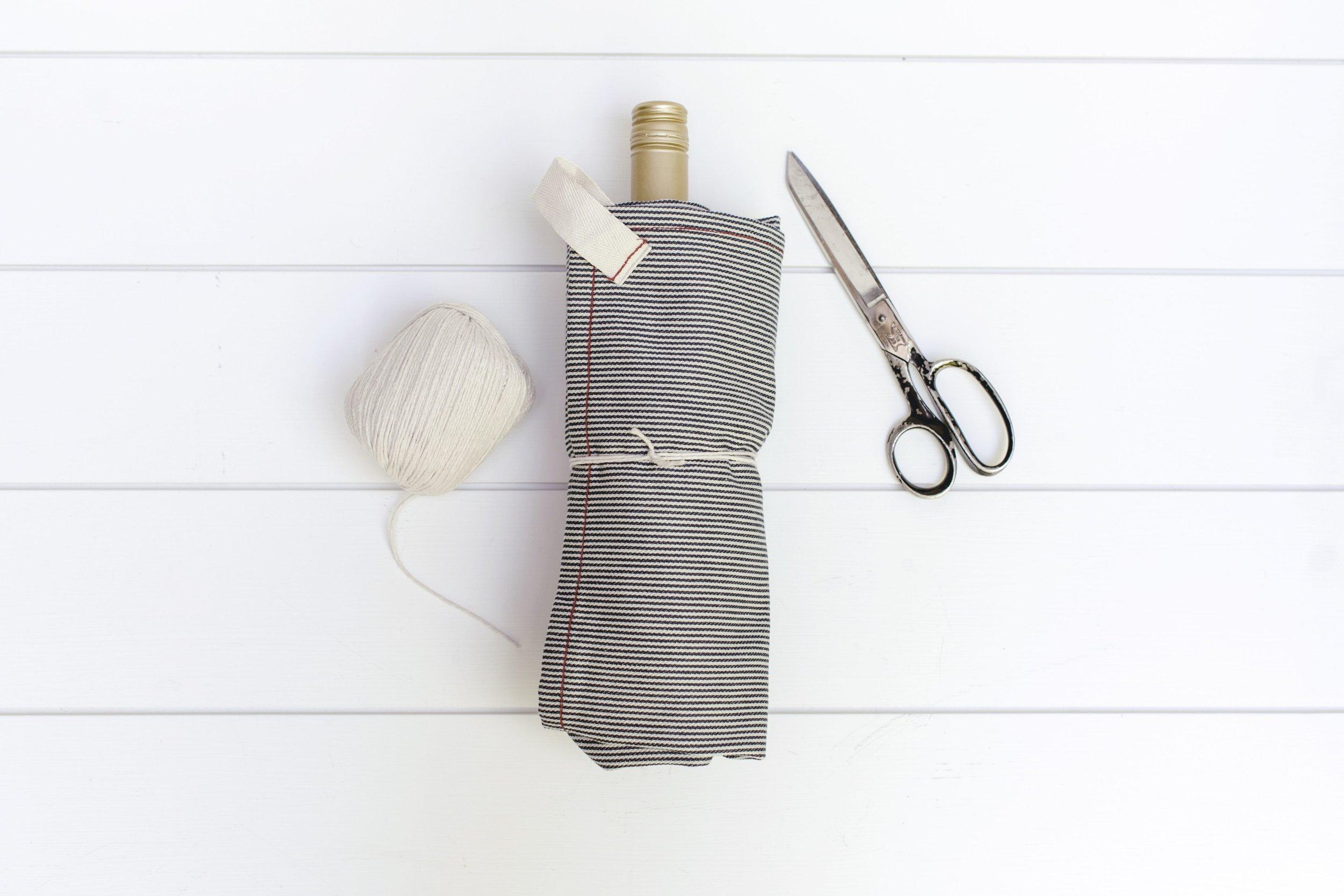 tea towel gift wrap by heirloomed