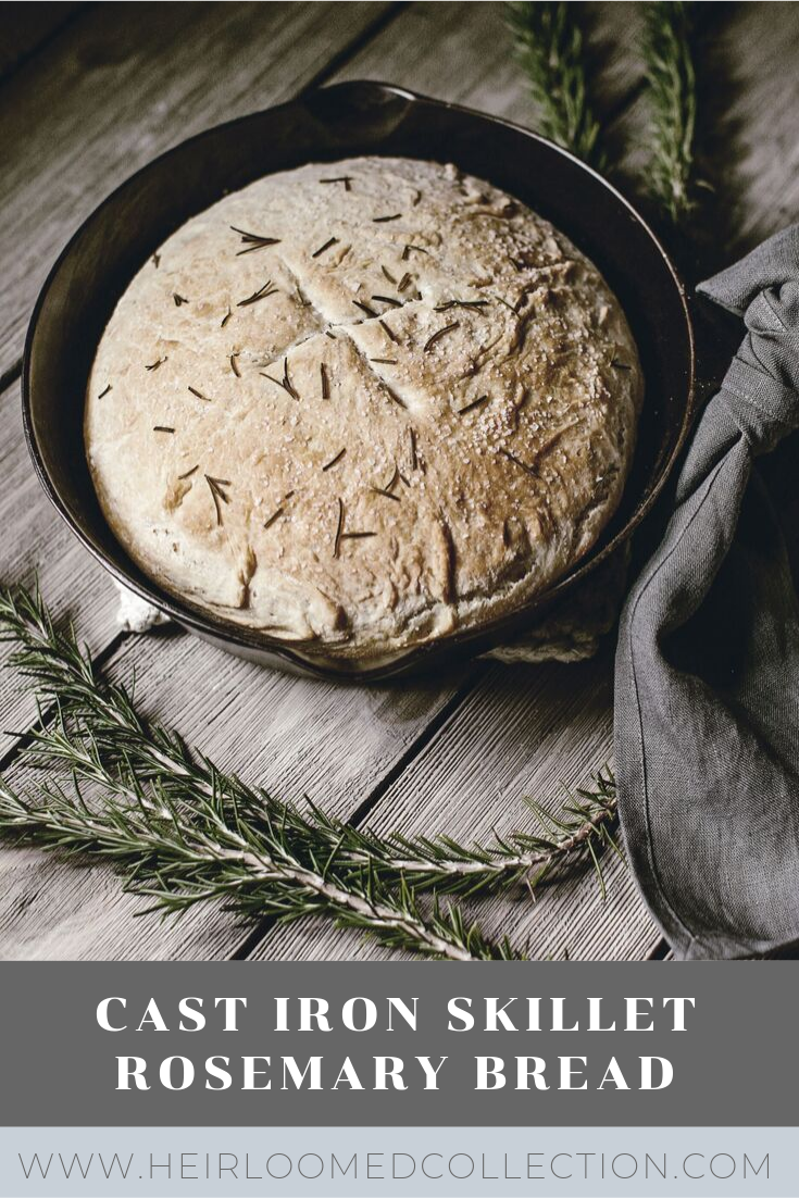 cast iron skillet bread by heirloomed