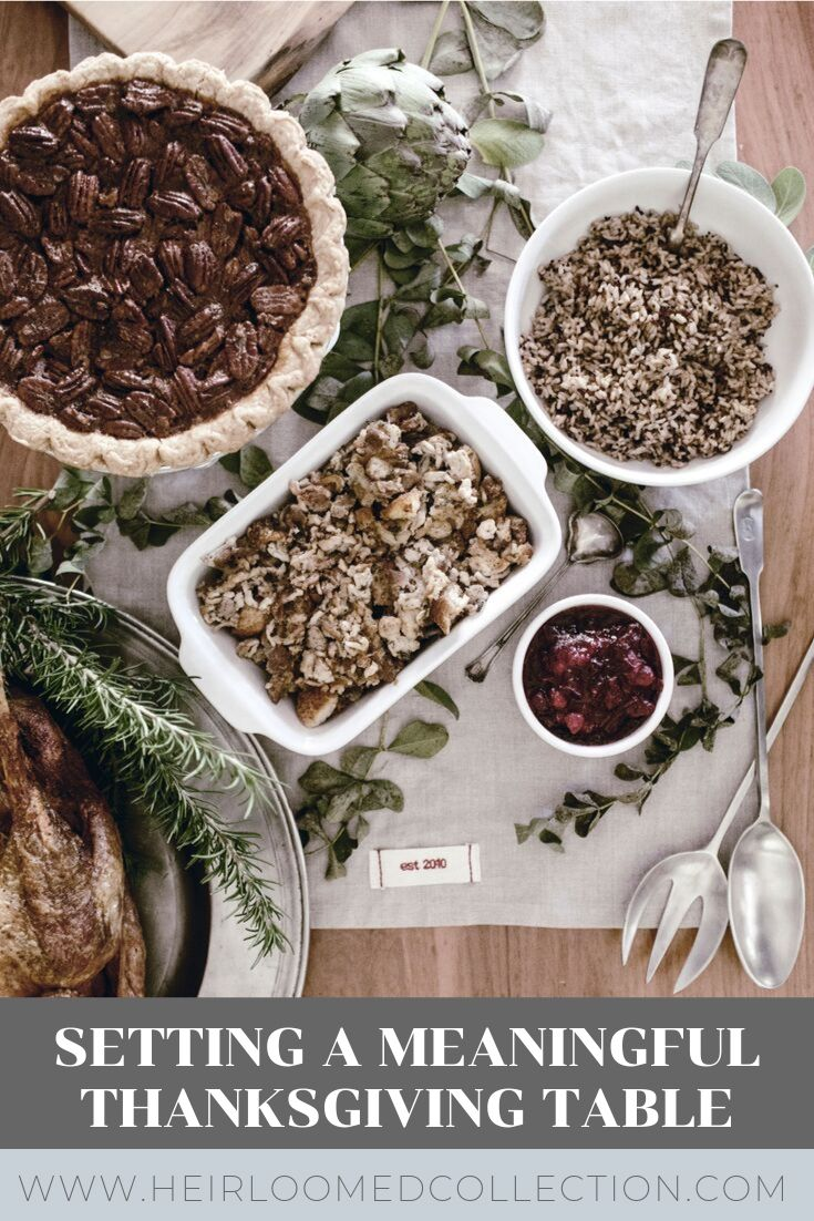 Thanksgiving table by heirloomed