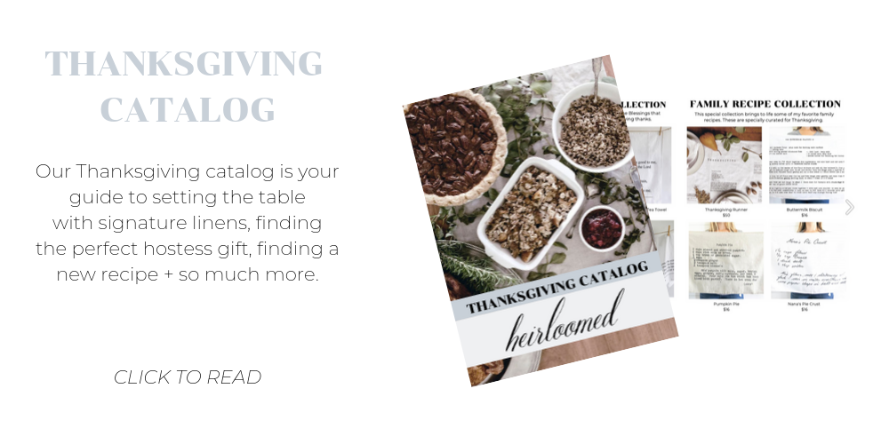 thanksgiving catalog by heirloomed
