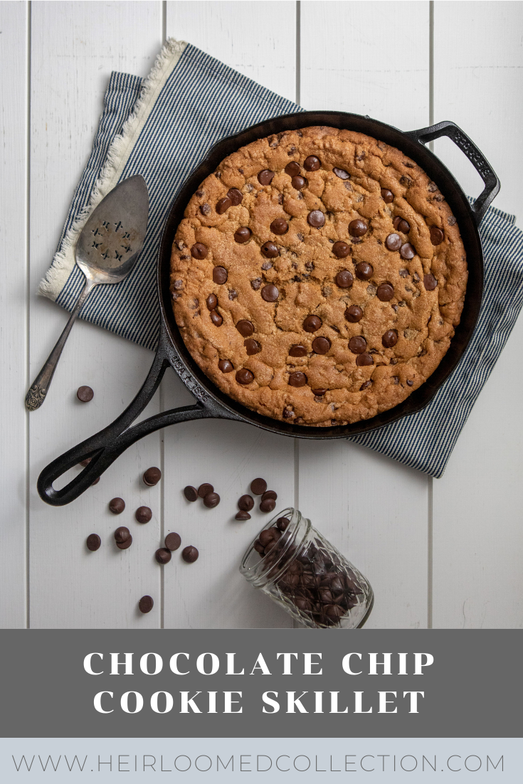 chocolate chip cookie skillet by heirloomed