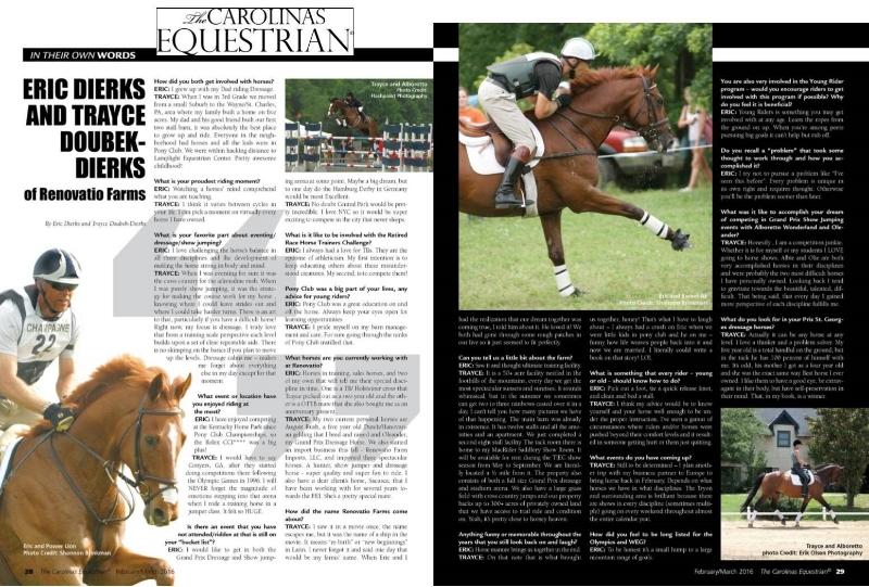The Carolina Equestrian Feb 2016