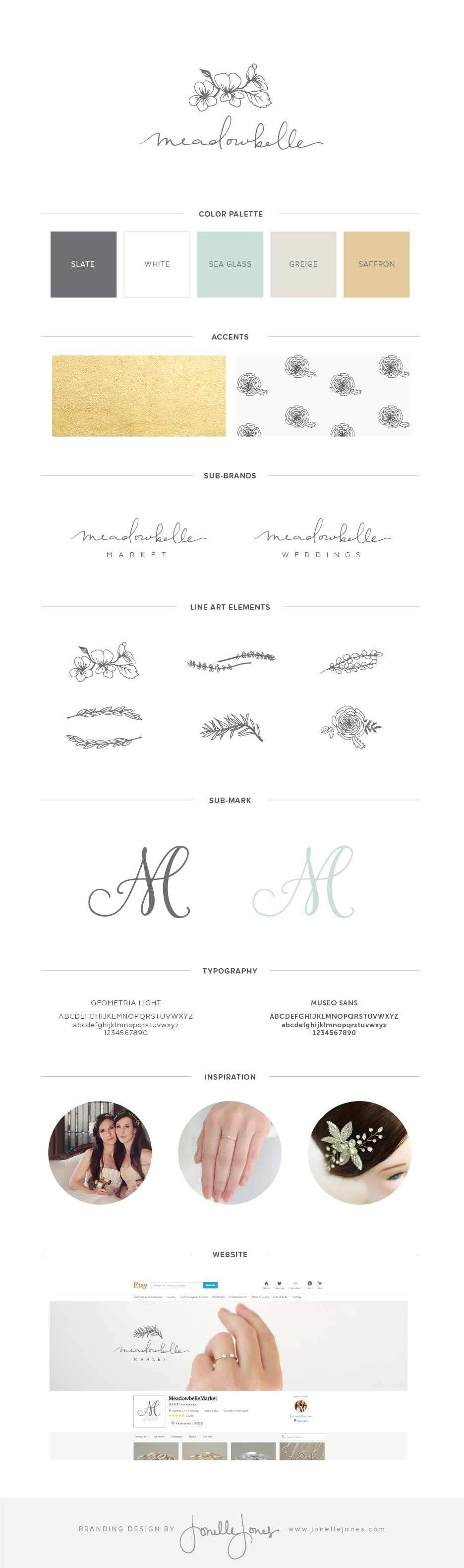 meadowbelle branding by jonelle jones creative