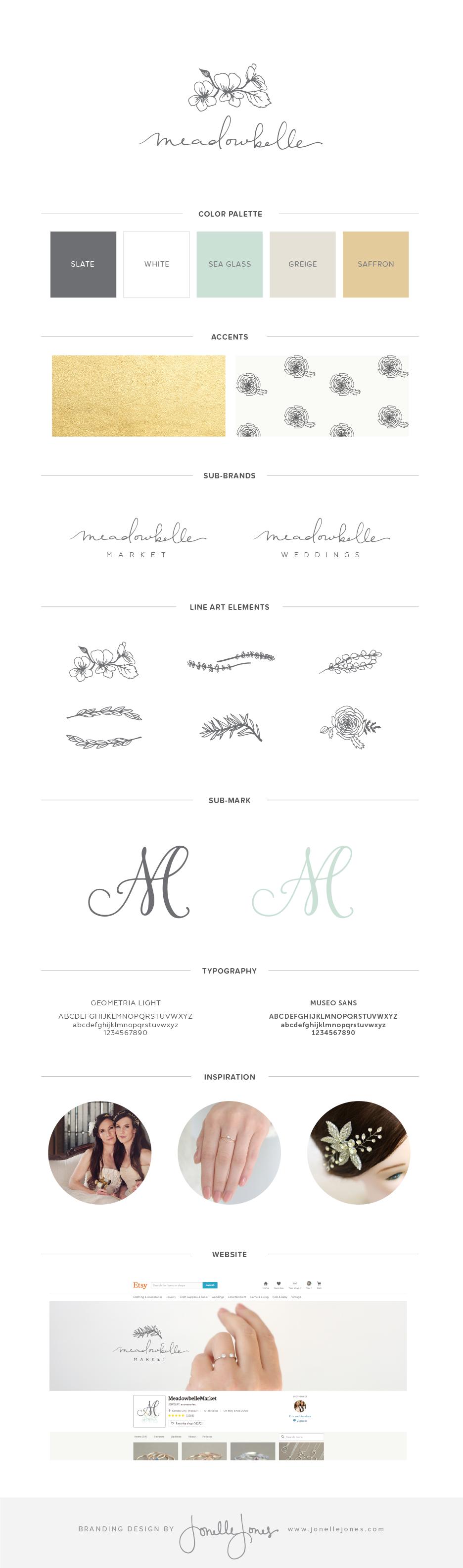 meadowbelle branding by jonelle jones creative