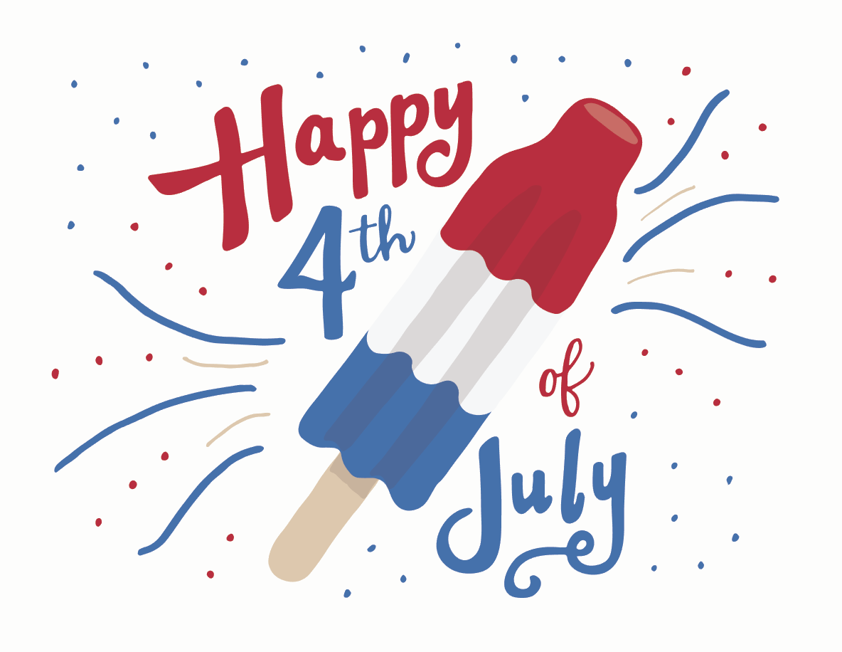 fourth of july hand lettering by jonelle