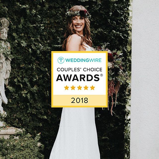 I am so honored and excited to be one of the @weddingwire couples choice awards winners. Thank you everyone for an amazing 2017 - we have so many fantastic weddings in store for 2018 and I cannot wait to work with so many stunning couples.