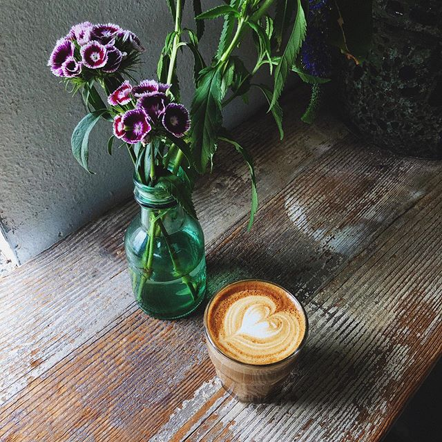 I never miss an opportunity for a good coffee + flower photo 😍☕️