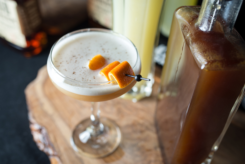 Gio – Jared Wall  Some Days: Knob Creek Bourbon, kola syrup, egg white, tonic, lime juice