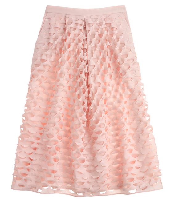 2. Laser-cut circle midi skirt
