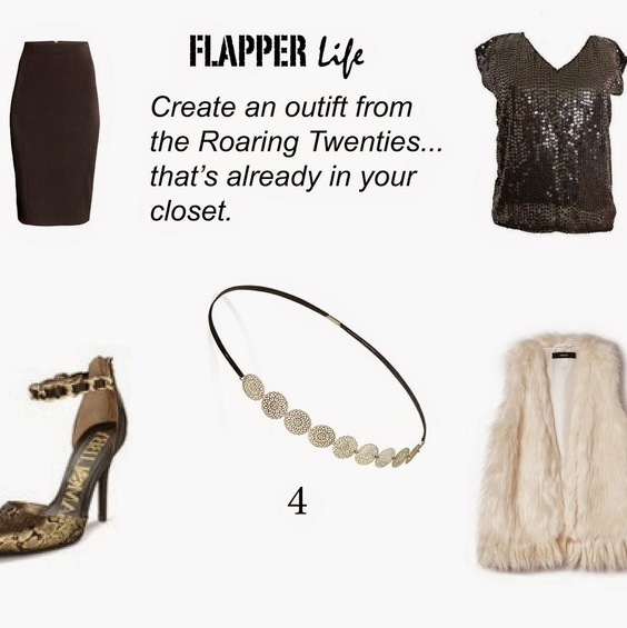 MAKE A ROARING TWENTIES OUTFIT..  FROM CLOTHES YOU ALREADY HAVE