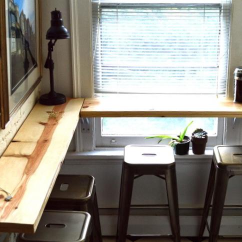 SMALL SPACE LIVING: BUILDING A CORNER COFFEE BAR