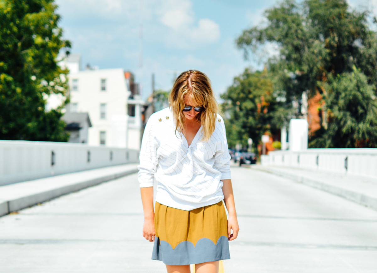 Crazy for scalloped skirts