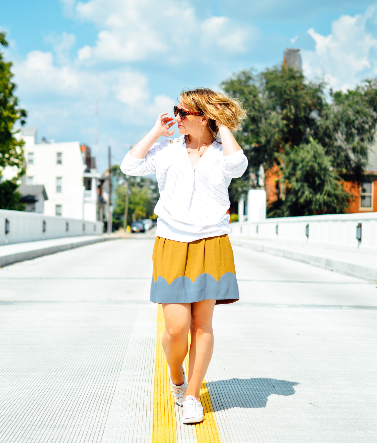 Two Color Scallop Skirt