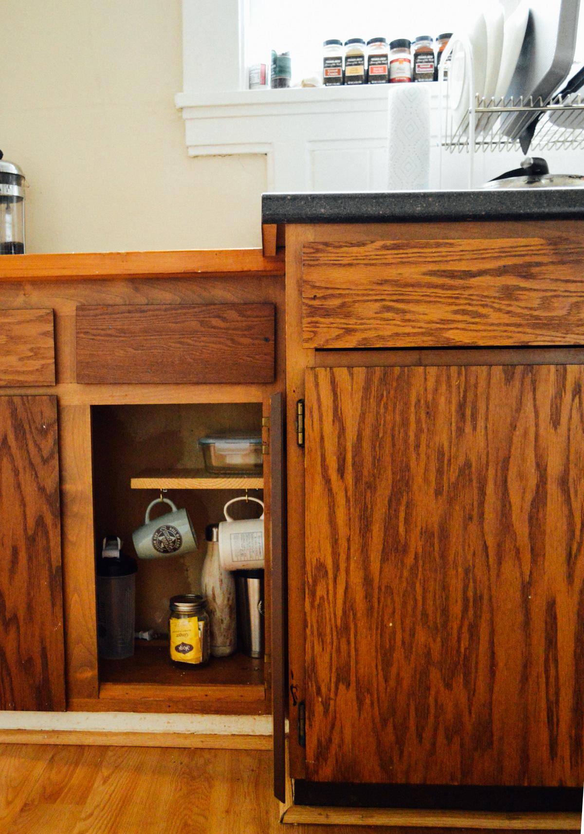 diy cupboard shelves