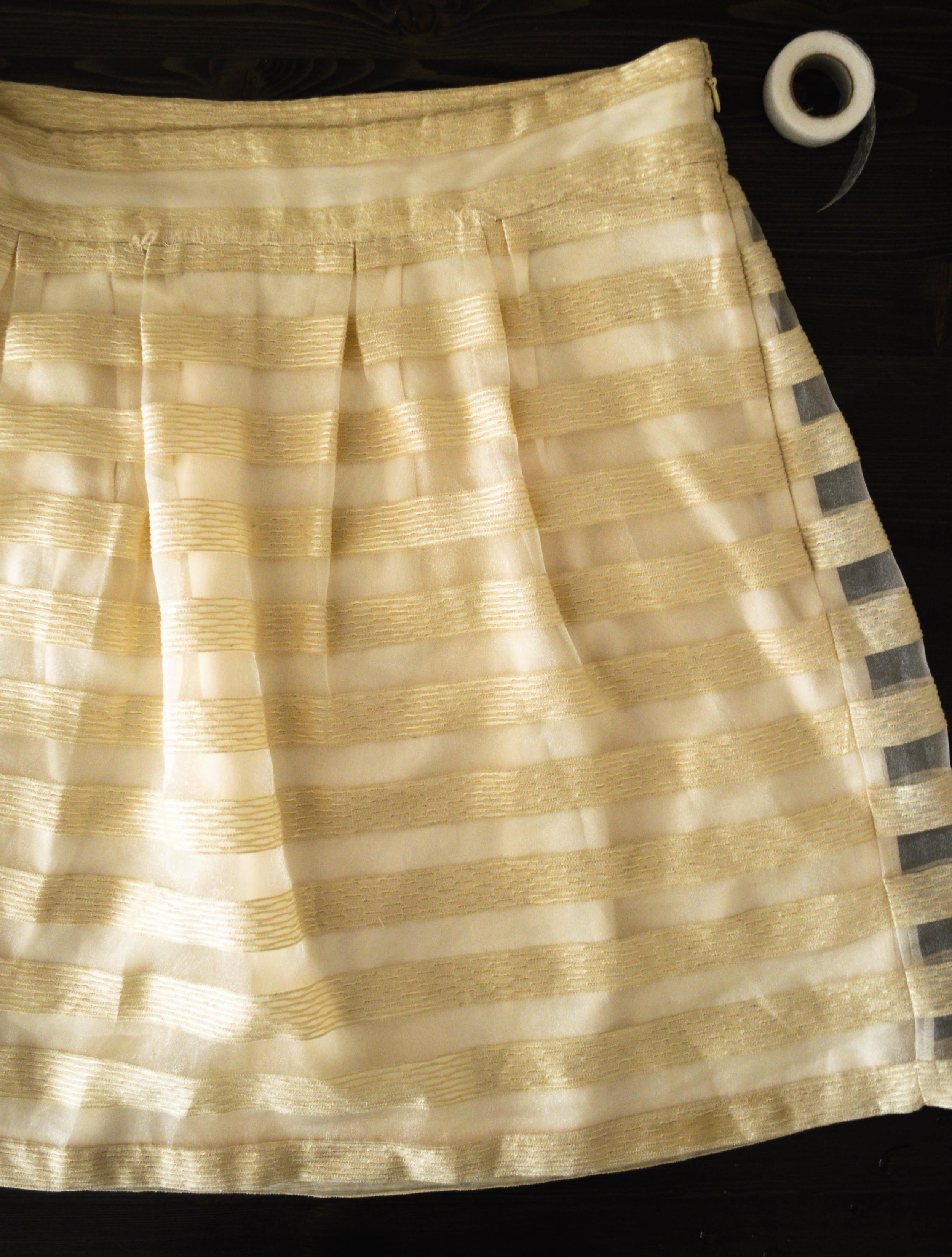no sew skirt repair