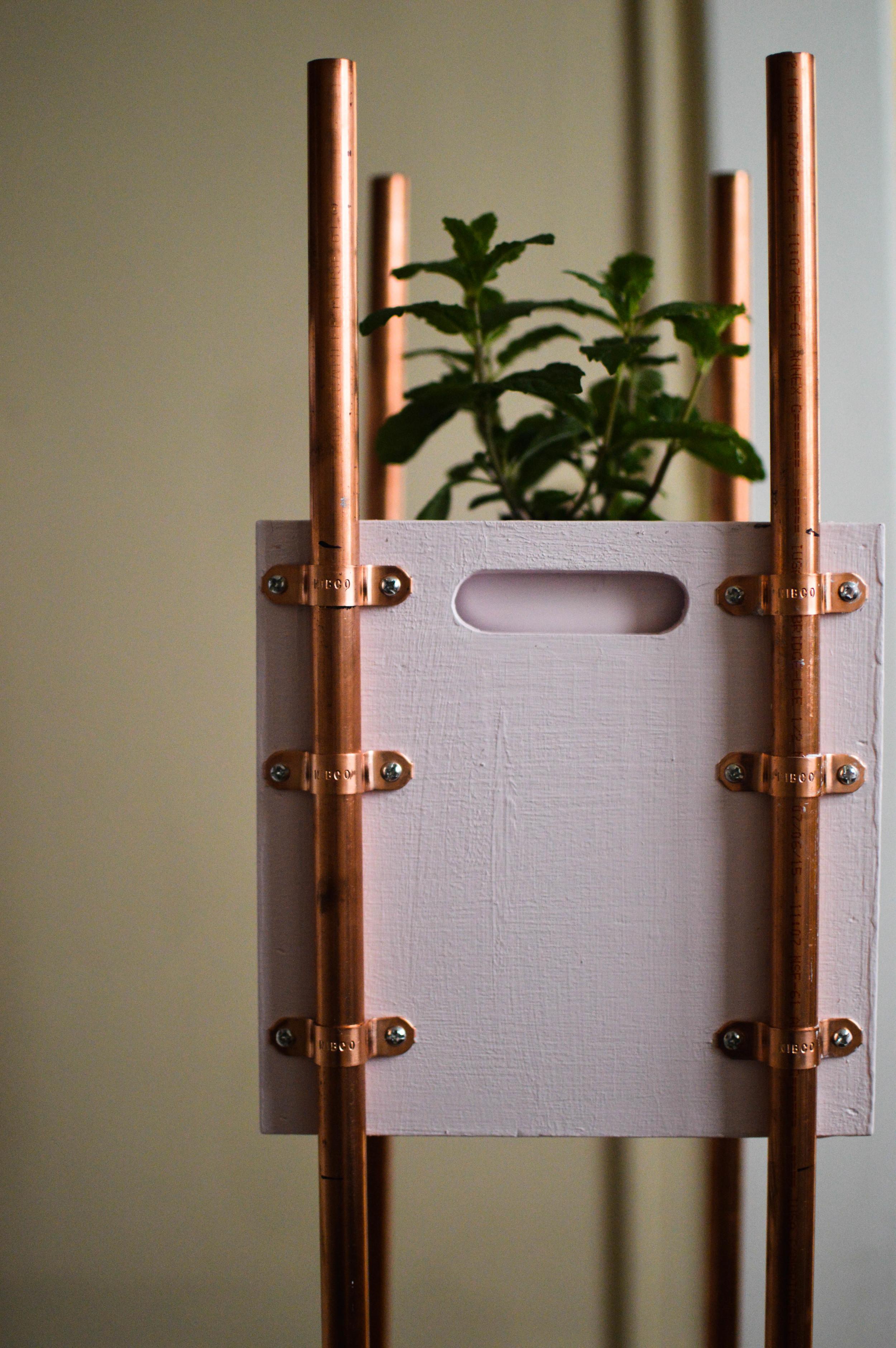 Copper Accent Modern Planter