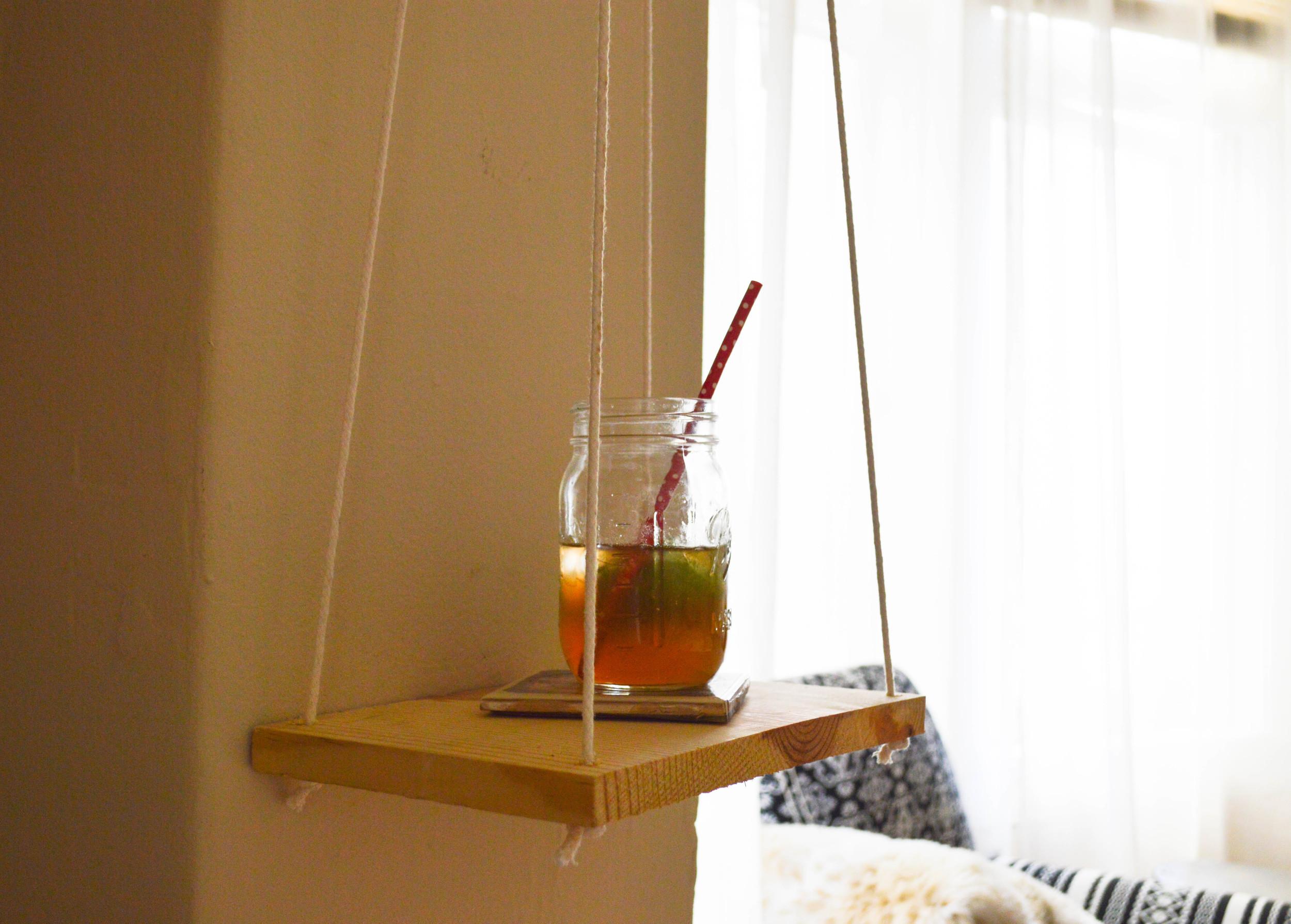 Easy diy hanging shelf