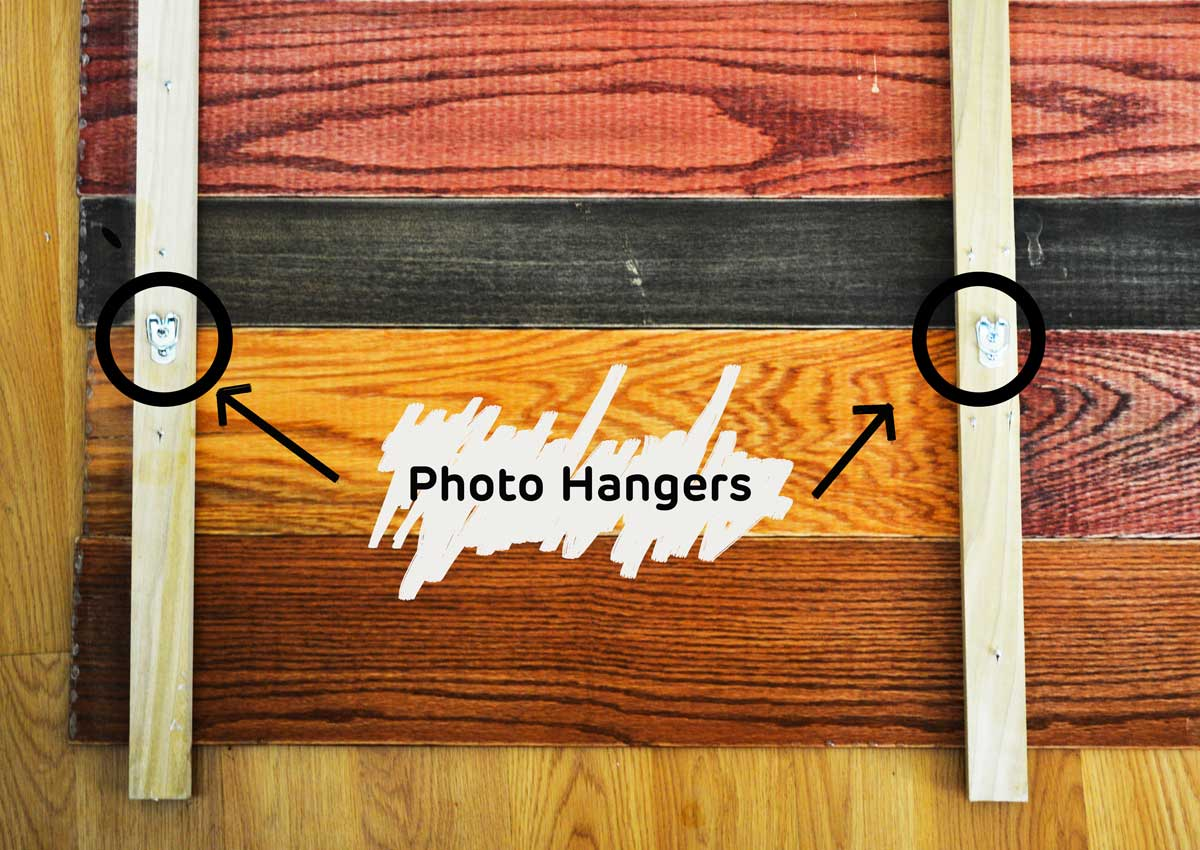 DIY hanging headboard