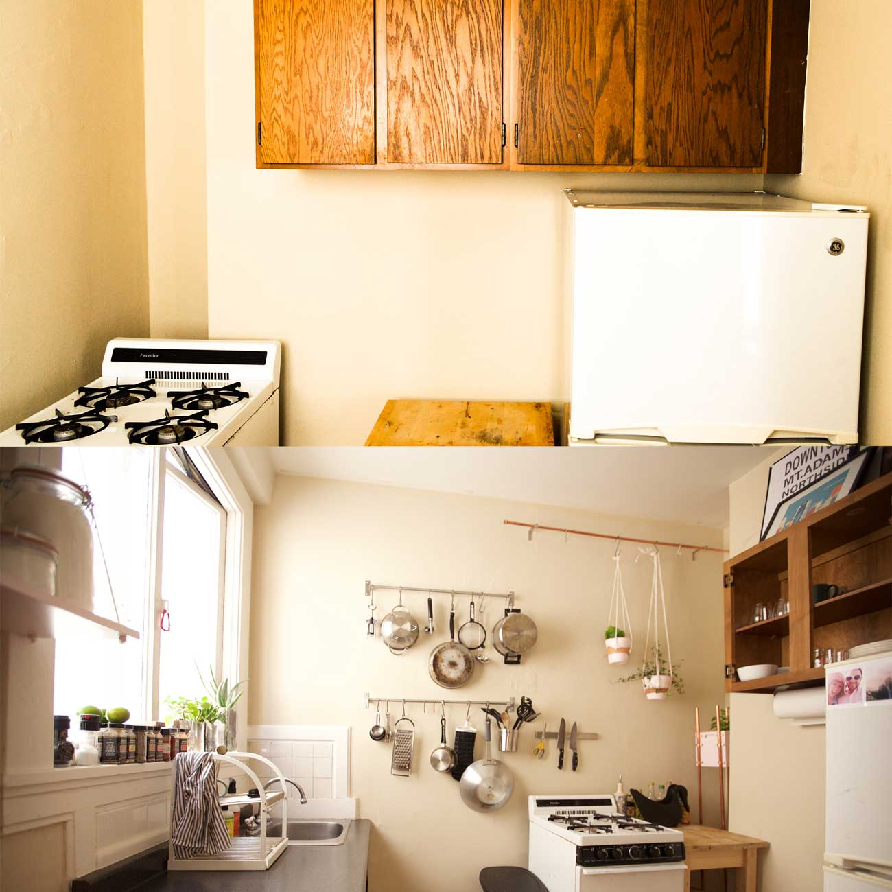 SF STUDIO KITCHEN: BEFORE AND AFTER
