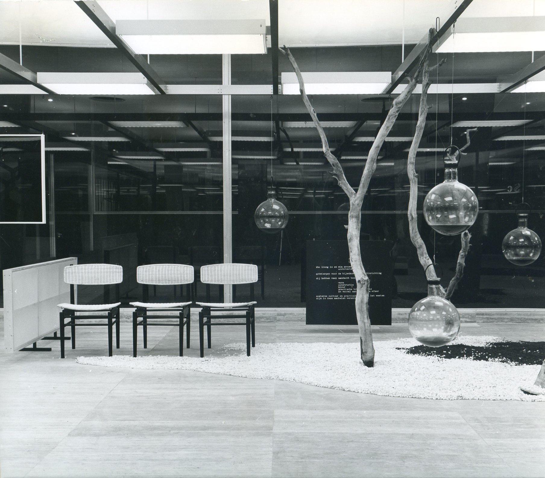 Bijkorama/De Bijenkorf, Rotterdam. In collaboration with Wim Crouwel. Photo Ad Windig