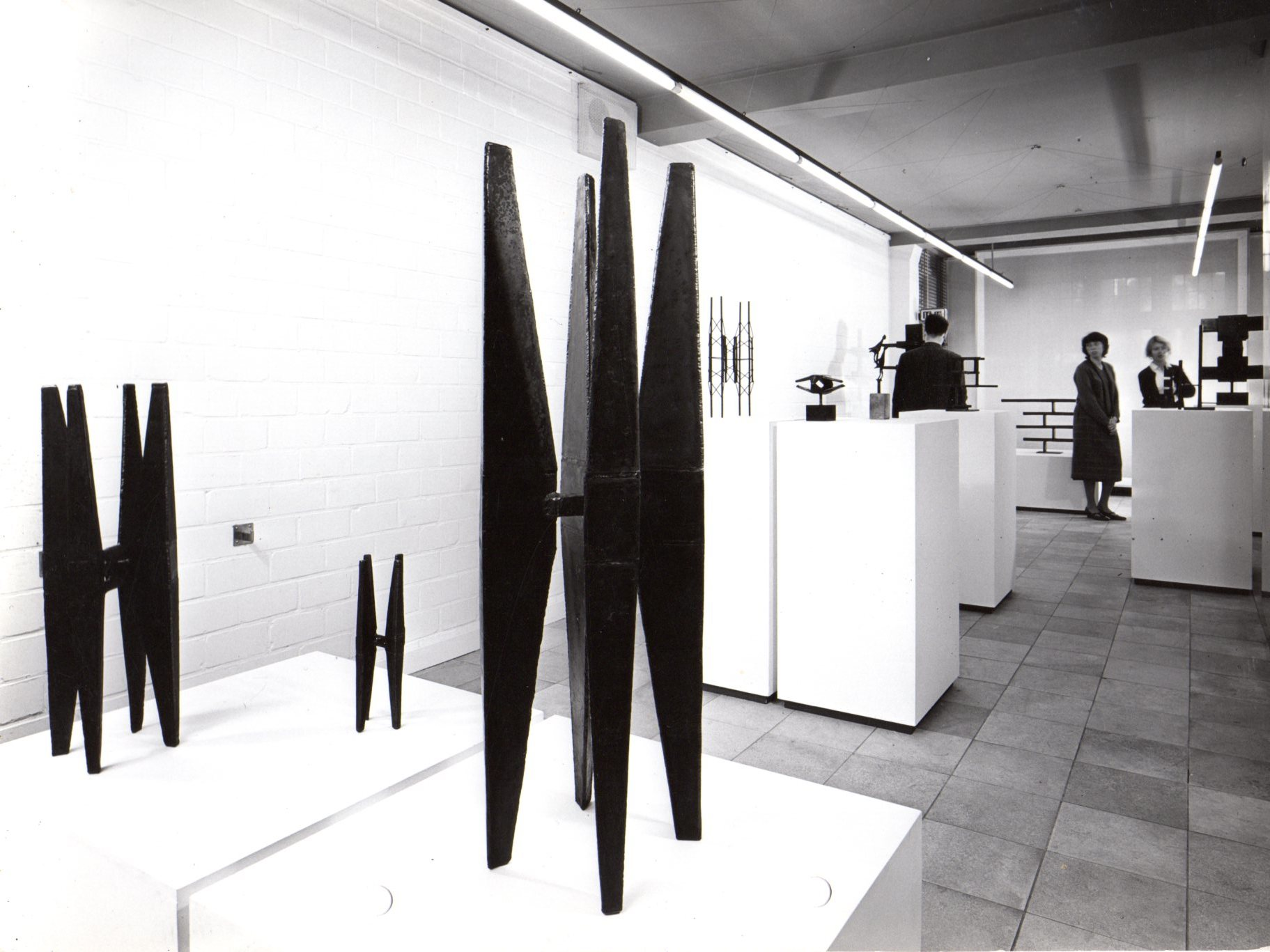 Carel Visser exhibition 1959. In collaboration with Wim Crouwel. Photo Jan Versnel
