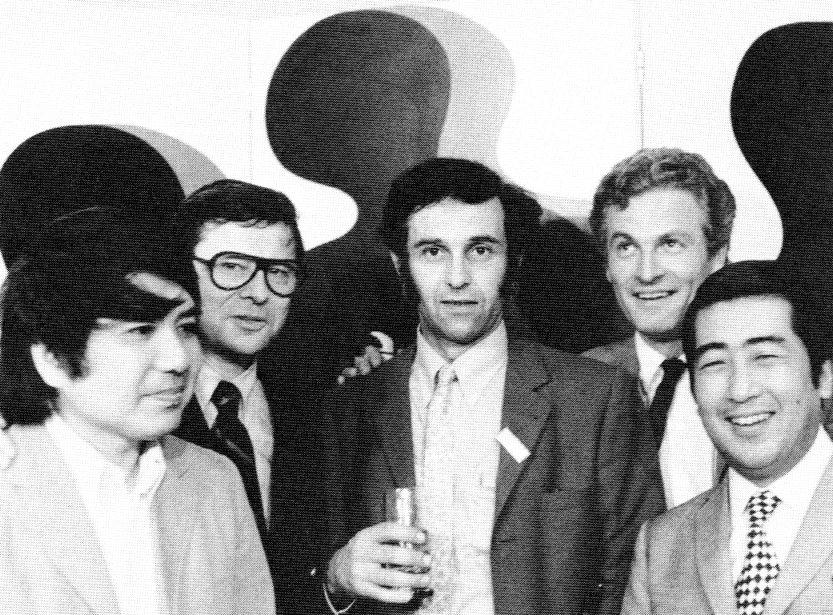 With Leo Castelli, Geoffrey Harcourt, Pierre Paulin and... 1970 Photo Artifort
