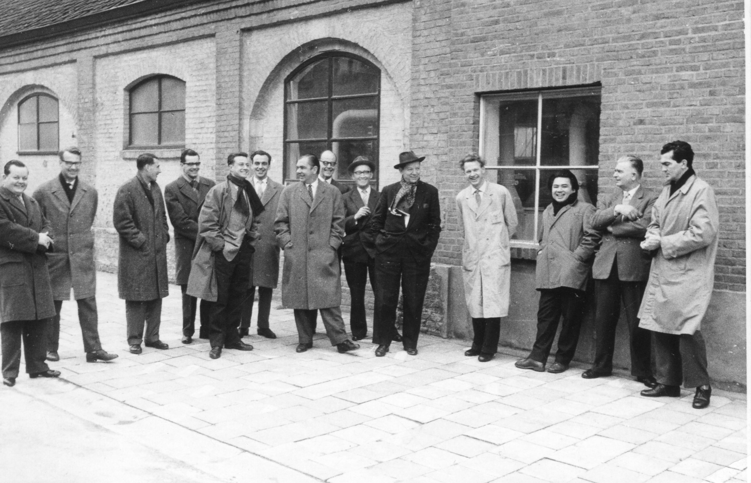 At Artifort. 5th from left CEO Harry Wagemans. Photo F. Lahaye