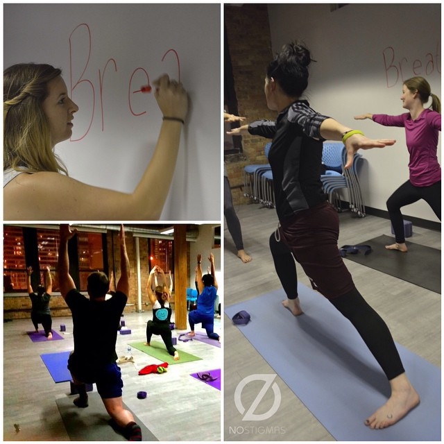 Thank you to everyone who came out to our #yoga workshop this week! #namaste #mentalhealth #wellnesswednesday