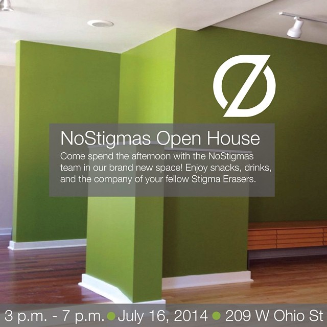 Open House: Join us for refreshments! Wed. July 16th, 3PM - 7PM | 209 W Ohio St, Ste. 200, Chicago (at NoStigmas)