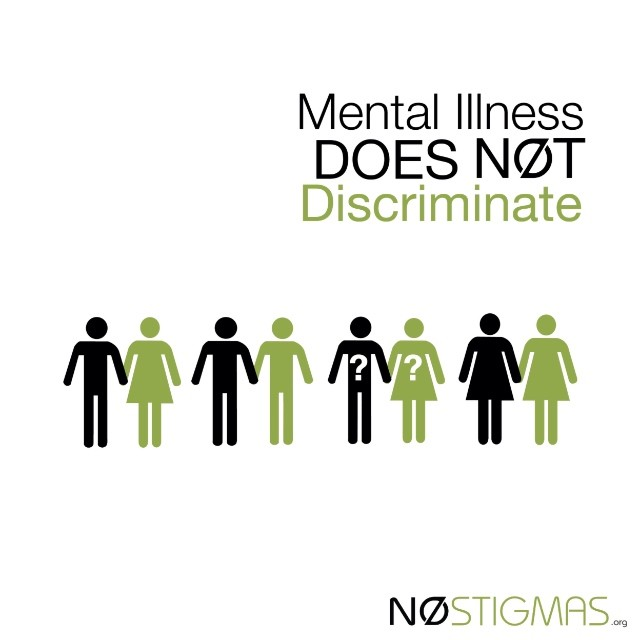 No matter your identity, you deserve mental health #equality. nostigmas.org