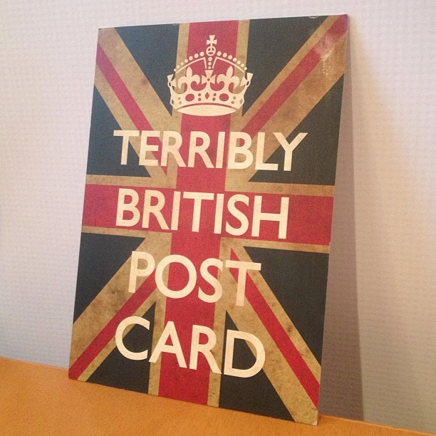 What ho! Former intern @_munshine sent this little beauty from London. Cheers! #anglophile (at NoStigmas)