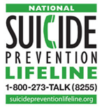 National Suicide Prevention Lifeline  Call 24/7 1-800-273-8255