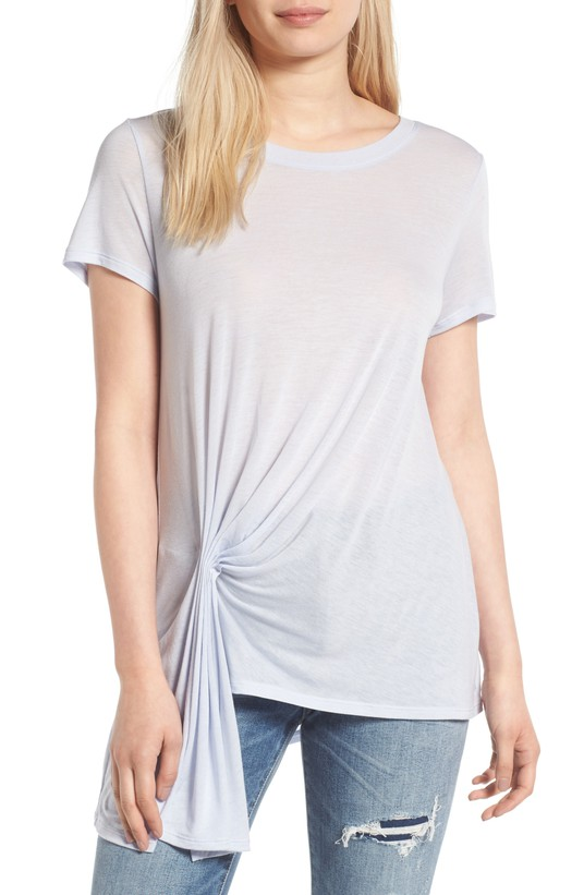 Gathered Pleat Front Tee