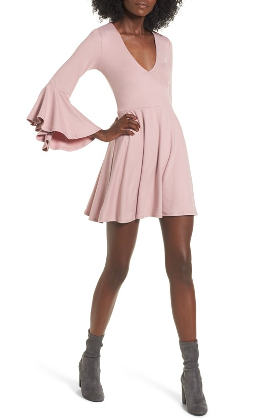 Bell Sleeve Knit Dress