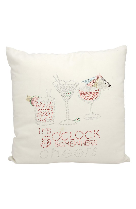 """It's Five O'Clock Somewhere"" Pillow"