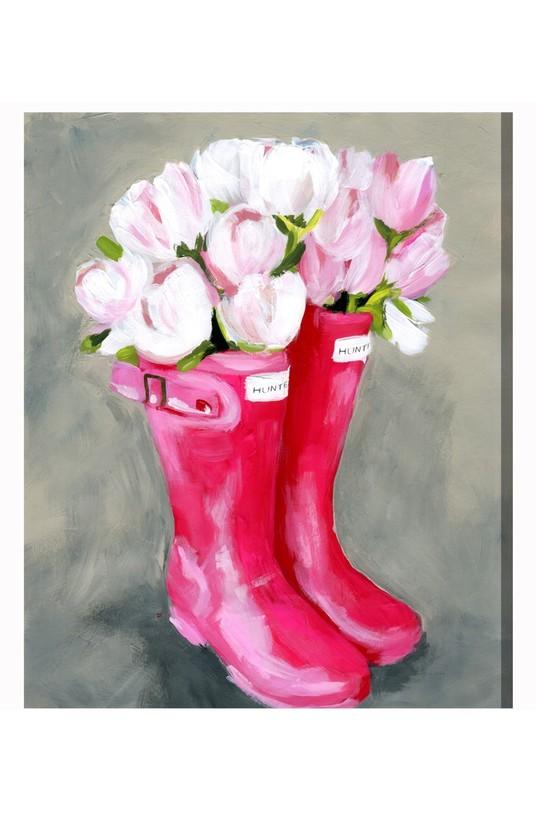 Tulip Rain Boots Canvas