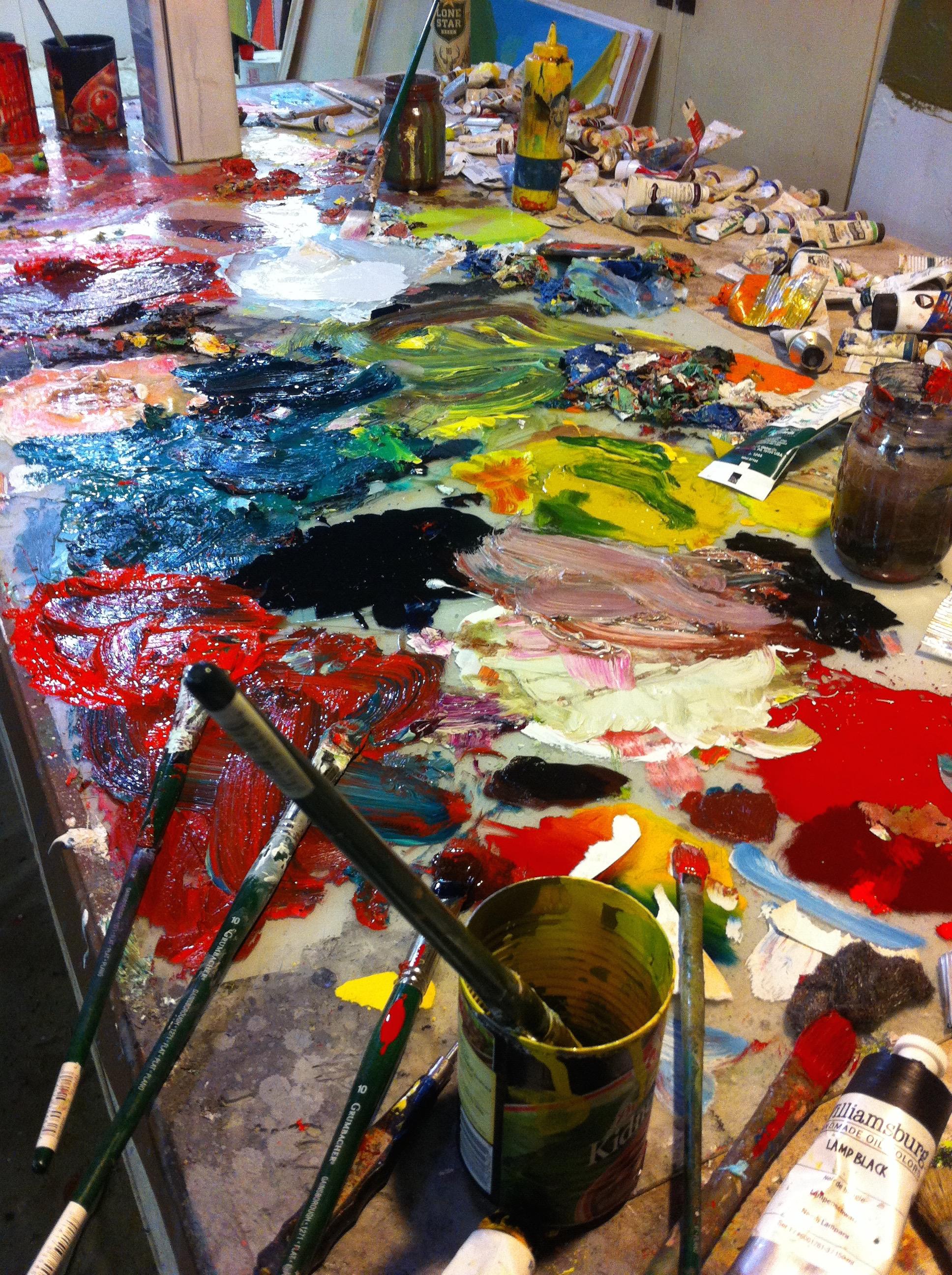 An artist's studio in Marfa, TX