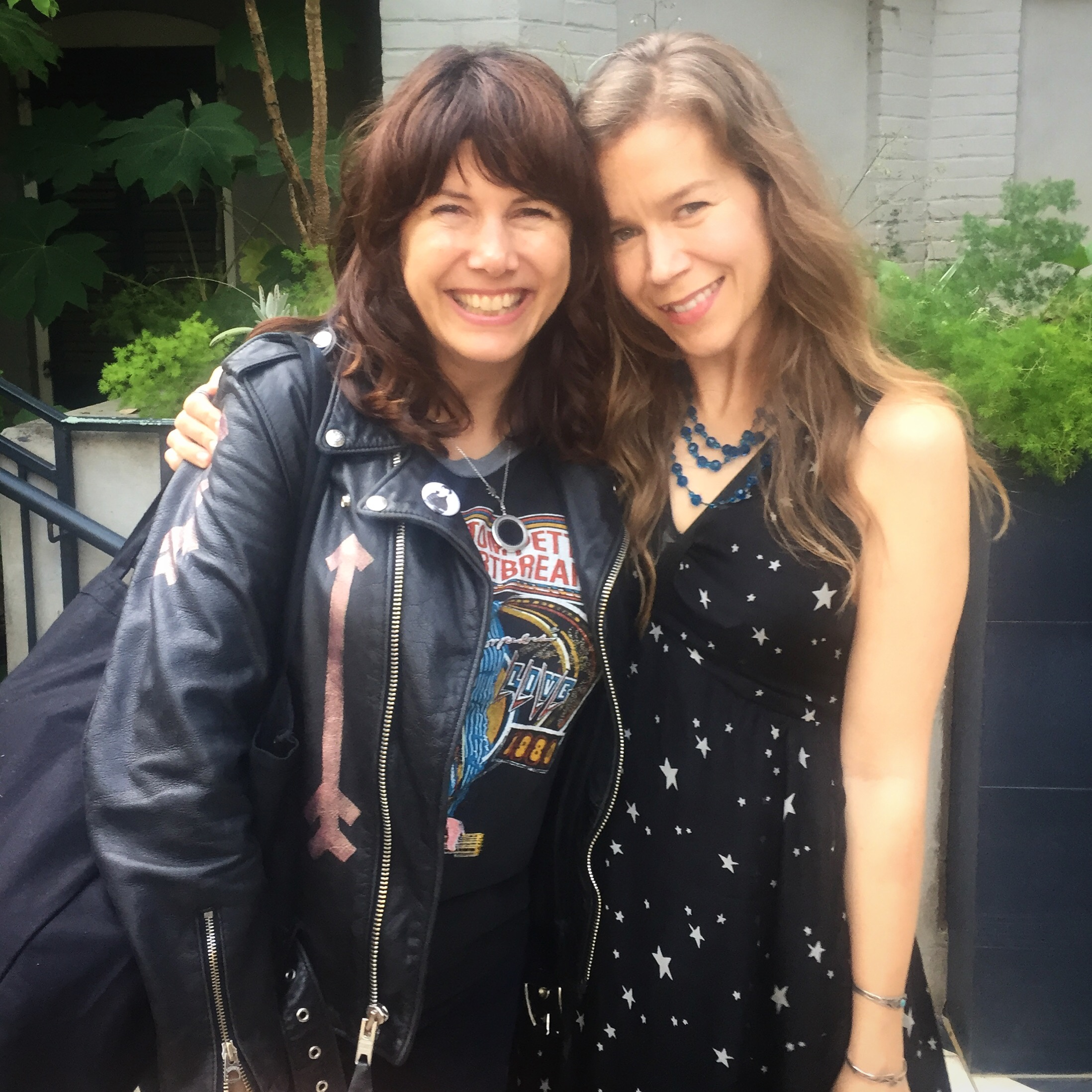 Cindy & me at the beautiful Hotel Saint Cecilia in Austin, TX, during SXSW